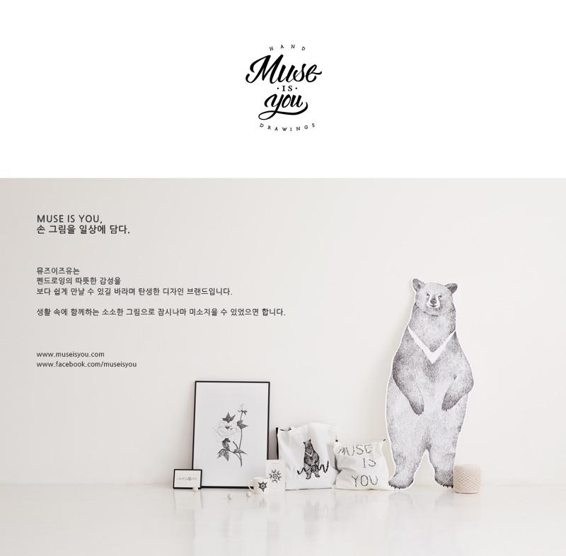 미니 카드 (잎) - 뮤즈이즈유, 1,000원, 디자인카드, 일러스트